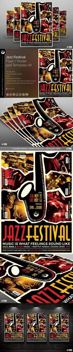 Jazz Festival Flyer Template V8