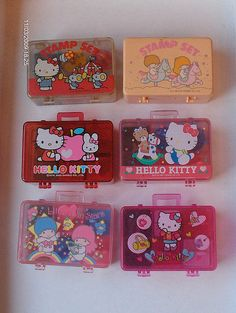 I loved my Hello Kitty Stamps, just like these 1980s Childhood, My Childhood Memories, Little Twin Stars, Retro Toys, Vintage Toys 80s, 1980s Toys, Vintage Items, 80s Kids, My Melody