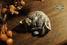 Curly Cat  925 Silver PendantP43