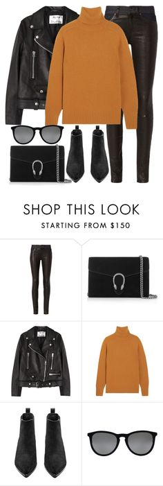 """""""Untitled #2874"""" by elenaday on Polyvore featuring rag & bone, Gucci, Acne Studios, Chloé and Ray-Ban"""