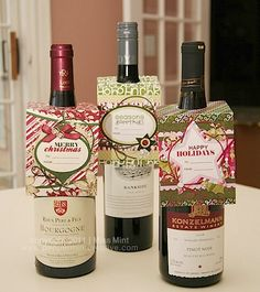 Wine gifts......the patience that it takes to scrapbook and make this kinda stuff....i am envious of those that can do it!