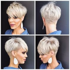 Ok for my pixie friends who have asked for a . Jennifer DelValle… Ok for my pixie friends who have asked for a . Short Grey Hair, Short Hair Cuts For Women, Short Hairstyles For Women, Short Hair Styles, Blonde Short Hair Pixie, Girl Short Hair, Short Girls, Black Hair, Popular Short Haircuts