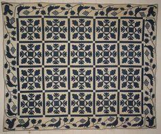 Appliqué Quilt, Oak Leaf and Reel Pattern (SOLD)