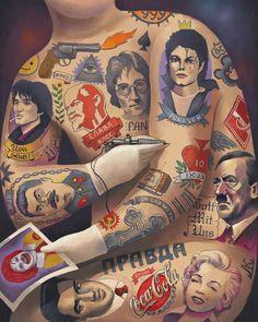 Rad Illustrations by Dmitry Korotchenko. #tattoos #illustration #colors #rad