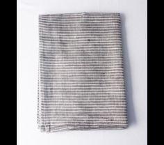 Gray and White Stripe Linen Napkins