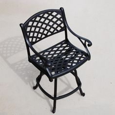 Heritage Cast Aluminum Counter Height Patio Bar Stool - Lifestyle View
