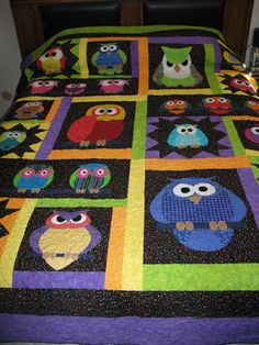 Whoo Knows by Moosestash Quilting. Pattern by fatcatpatterns.com