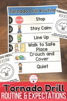 This tornado drill rules and expectations resource is full of posters and materials to accompany the teaching of your school's PBIS rules. I like to use these materials from the very first day of school to teach my students the right way to follow our tornado drill safety procedure. From walking to the safe place, to staying calm, these materials are sure to teach your students how to be safe during a tornado drill!