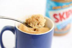 Peanut Butter Mug Cake (low-fat version) | Kirbie's Cravings | A San Diego food blog