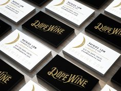 Beautiful business card design for Dope Wine. Printed on velvety, smooth paper stock.