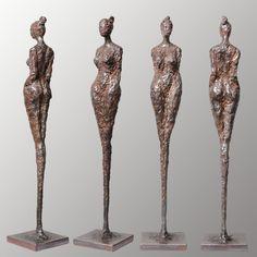 no.17249 | cm 49.5 | kg 3.6 | sold Armature Sculpture, Wood Sculpture, Wall Sculptures, Ceramic Pottery, Ceramic Art, Alberto Giacometti, Ceramic Techniques, Bronze, Ceramic Figures