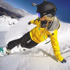 """7,750 Likes, 105 Comments - Hannah Teter (@hannahteter) on Instagram: """"Ready to slash some more powder! Bring it on winter:) #gopro ❄️"""""""