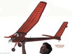 Model Airplane Full Size Printed Plans Hand Launch Glider
