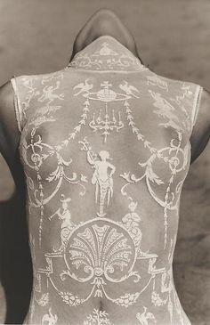 Detail, Malibu, 1992 Herb Ritts Vivienne Westwood bodysuit Xx E Azzedine Alaia Dress, Ohh Couture, Couture Details, Looks Style, My Style, Herb Ritts, Womens Bodysuit, Sheer Bodysuit, Inhale Exhale
