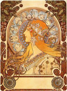 """""""Zodiac"""", Alphonse Mucha"""