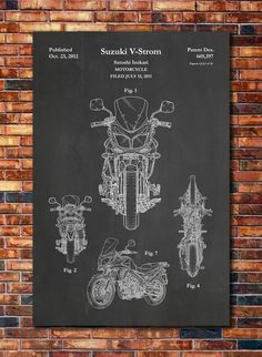 Patent of Suzuki V-Strom Motorcycle 2012 by CatkumaPatentPress