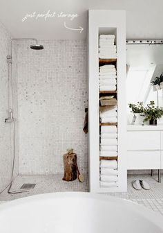 Perfect bathroom storage