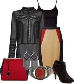 """""""red and black"""" by aemorgan ❤ liked on Polyvore"""