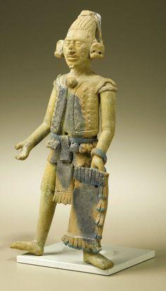 Standing Warrior Holding Rectangular Shield. Maya, Jaina. A.D.   Lot #47006   Heritage Auctions