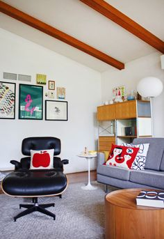 Suzy's Whimsical Mid-Century Modern Home (with Gundam and Lego Star Wars treats. I feel that our family and this family would get along splendidly-- so much in common.)