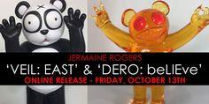 Jermaine Rogers 'VEIL: EAST' & 'DERO: beLIEve (Merkabah)' online release… #Clear #DesignerToyArtToy #JermaineRogers #LimitedEdition