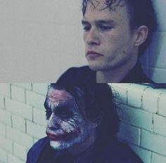 Heath in Monster's Ball and The Dark Knight