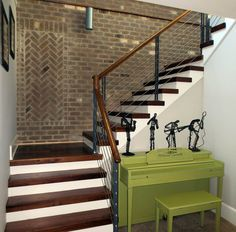 Our cable railing systems give your stairs a distinct modern touch. Expertly installed, they lend a unique beauty to your stairs. Cable Stair Railing, Cable Railing Systems, Staircase Railings, Stairways, Interior Railings, Interior Stairs, Home Interior Design, Xmas Stairs, Stair Components