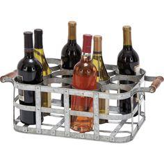 Metal basket wine holder. Holds 12 bottles. Metal basket wine holder. Holds twelve bottles.     Product: Wine holder