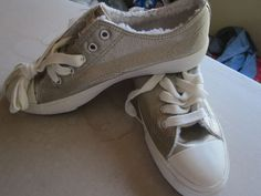 Airwalk  Ladies Gold Low Top Lace Up Sneakers Size 8 NWT #Airwalk #LowTop