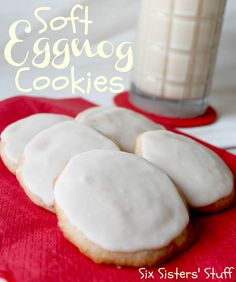 Soft Eggnog Cookies. @Izaiah Buseth perfect bribary for soneone we know...