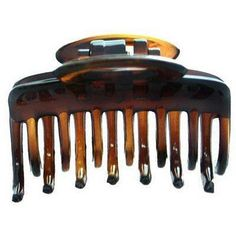 Caravan Patent Hair Claw Assorted Teeth Tortoise Shell Model No 720 ** Read more reviews of the product by visiting the link on the image.(This is an Amazon affiliate link and I receive a commission for the sales)