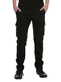 HOTTOPIC.COM - RUDE Black Slim Fit Cargo Pants