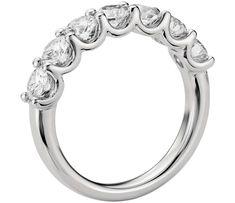 U-Prong Seven Stone Diamond Ring in Platinum (1.5 ct tw) | Blue Nile