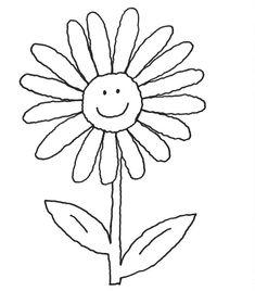 Ausmalbilder Strahlende Blumen 01