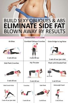 Best Exercise to Eliminate Side Fat and Build Sexy Obliques & Abs! Best Exercise to Eliminate Side Fat and Build Sexy Obliques & Abs! Fitness Workouts, Easy Workouts, Fitness Tips, Health Fitness, Fitness Memes, Fitness Motivation, Ab Workouts With Weights, Side Workouts, Abs Weights