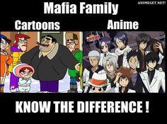 mafia family anime cartoons know the difference Animal Cartoon Video, Anime Vs Cartoon, Cartoon Memes, Cartoons, Anime Meme, Reborn Katekyo Hitman, Hitman Reborn, I Love Anime, Anime Guys