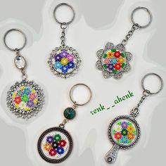 Keyrings hama mini beads by renk__ahenk