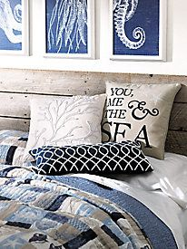 Above Bed Decor with a Beach Theme| Hang a Shelf, Art, Shells, Wreaths & more