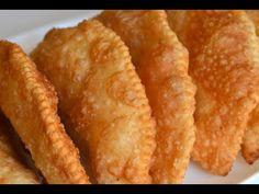 Reteta de Placintele (Langosii) - YouTube Snack Recipes, Cooking Recipes, Savoury Baking, Yummy Food, Tasty, Russian Recipes, Onion Rings, Antipasto, Cornbread