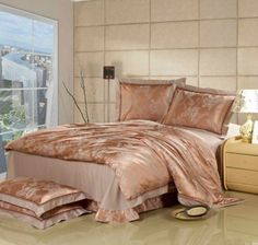 Aliexpress.com : Buy Satin jacquard 4pcs bedding sets Soft silk cotton material bedding duvet cover,European round bed sheet and Envelope pillowcases from Reliable satin suppliers on Kaifei Home Textile $115.00