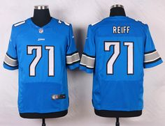 e2525ea37b4 NFL Detroit Lions #71 Mens Riley Reiff Elite Home Jersey - Light Blue Light  Blue