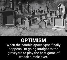 When the zombie apocalypse finally happens…