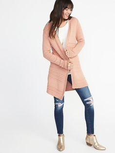 Textured-Knit Open-Front Cardi for Women - Old Navy, size S $32