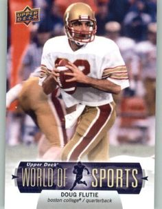 2011 Upper Deck World of Sports Baseball Trading Card #97 Doug Flutie - Boston College Eagles (NFL Football) (Legend) (ENCASED Collectible Card) by Upper Deck. $1.75. 2011 Upper Deck World of Sports Baseball Trading Card #97 Doug Flutie - Boston College Eagles (NFL Football) (Legend) (ENCASED Collectible Card)