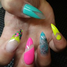 #ShareIG Neon glitter and negative space!