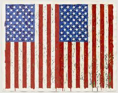 """Jasper Johns, """"Flags I"""", 1973, Screenprint, 27 3/8 x 35 1/4 inches.  On view in MOMA's current exhibition """"New to the Print Collection: Matisse to Bourgeois"""", through January 7, 2013"""