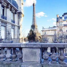 "historyinhighheels: "" It was a cold but gorgeous day in #Paris today! #travelgram #hinhhabroad #eiffeltower #jadoreparis (at Avenue de Camoëns) """