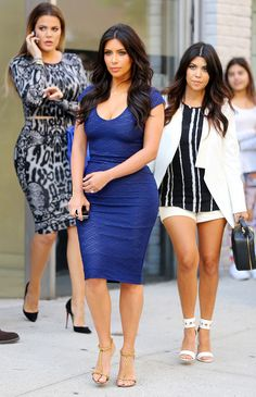 Kim, Kourtney and Khloé Kardashian take their sexy selves out in New York City.