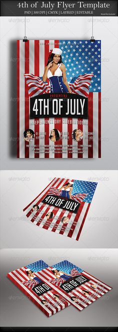 GraphicRiver Labor Day Flyer Template Diseño Pinterest - independence day flyer