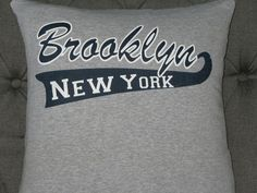 Brooklyn, New York T Shirt Throw Pillow by ThePastureRoad on Etsy